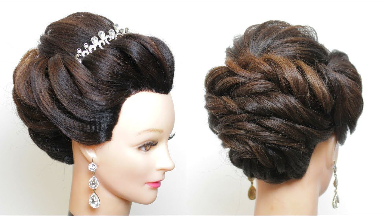 wedding prom hairstyle. updo for long hair tutorial