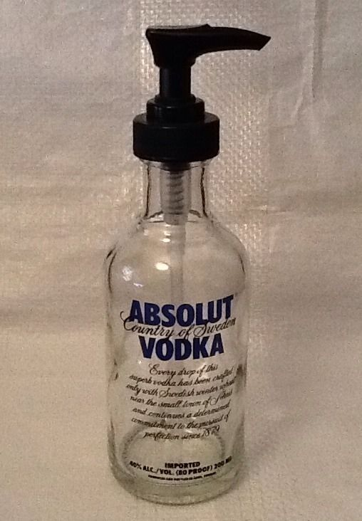 Absolut Vodka Bottle Soap Pump Lotion Hand Sanitizer Thin Sauces
