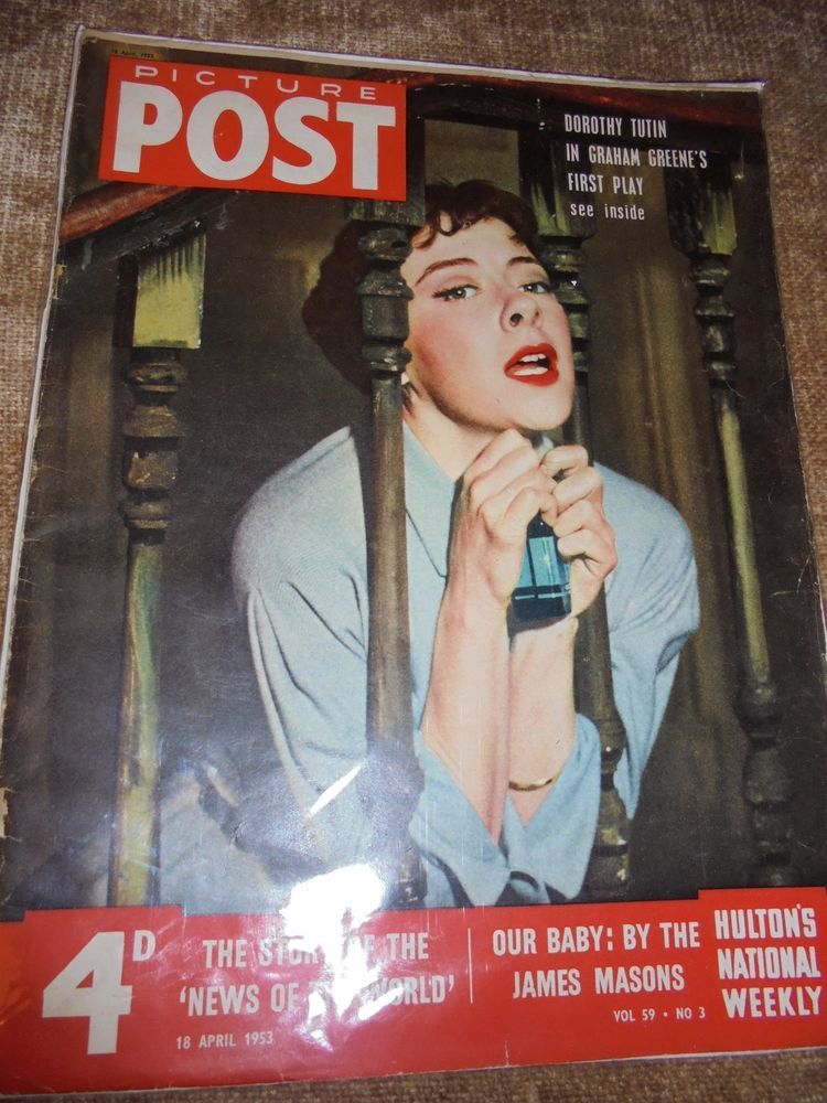 VINTAGE MAGAZINES  PICTURE POST  VOLUME 59, NO 3 18th APRIL 1953 DOROTHY TUTIN