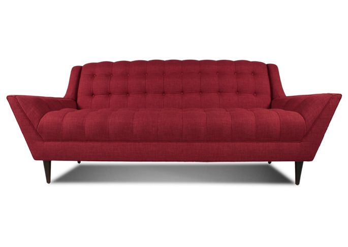 Thrive Sofas Stylish Leather Mid Century Sofa Get The Mad