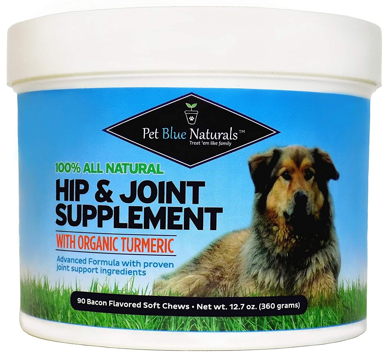 Glucosamine for Dogs, All Natural Hip and Joint Supplement