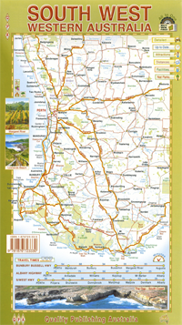 Map Of South Western Australia.This Map Of The South West Of Western Australia Covers From Jurien