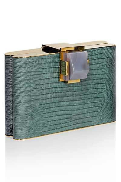 Lanvin clutch. Turquoise. Gold. Stone.