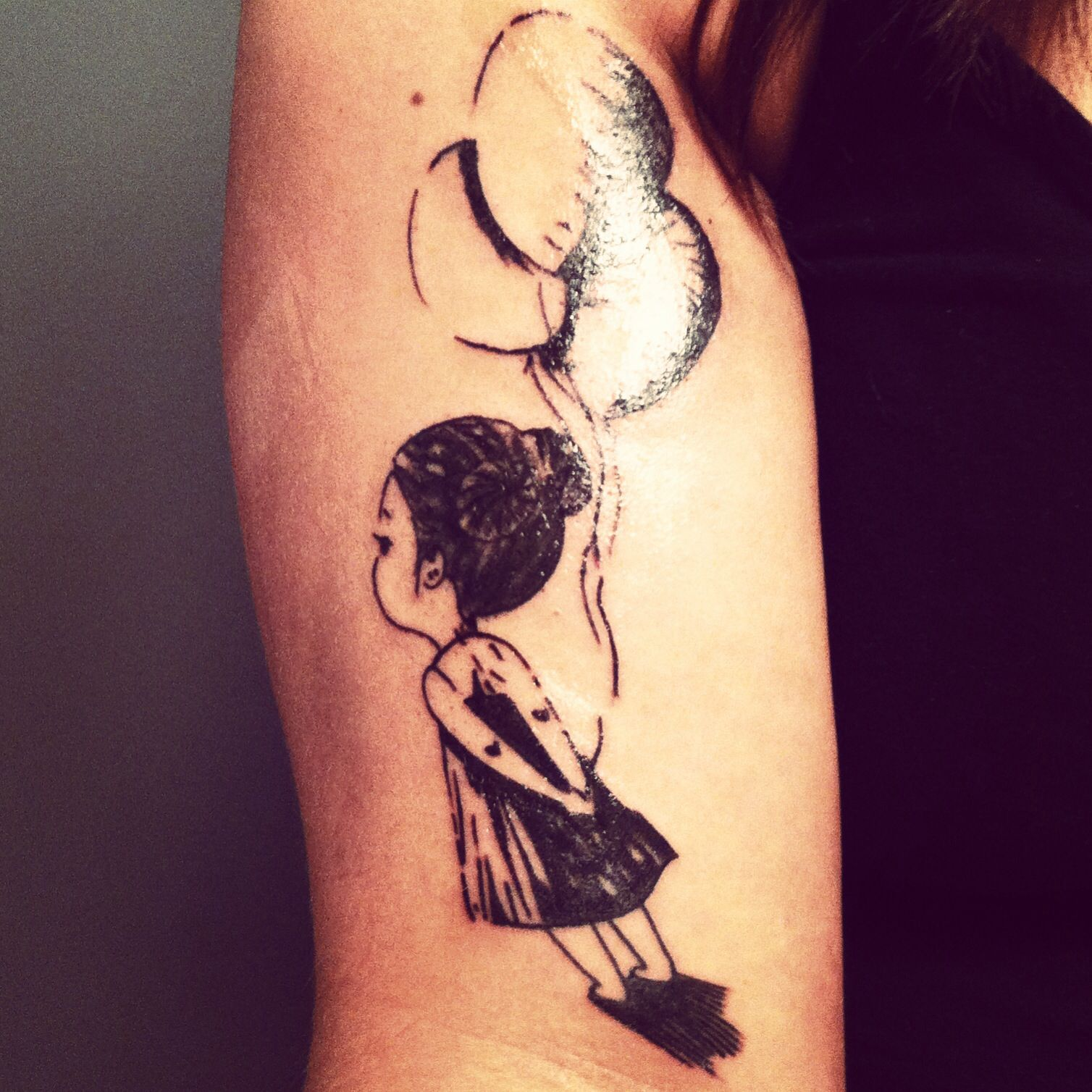 My new tattoo girl with balloons ink obsession for My tattoo girls