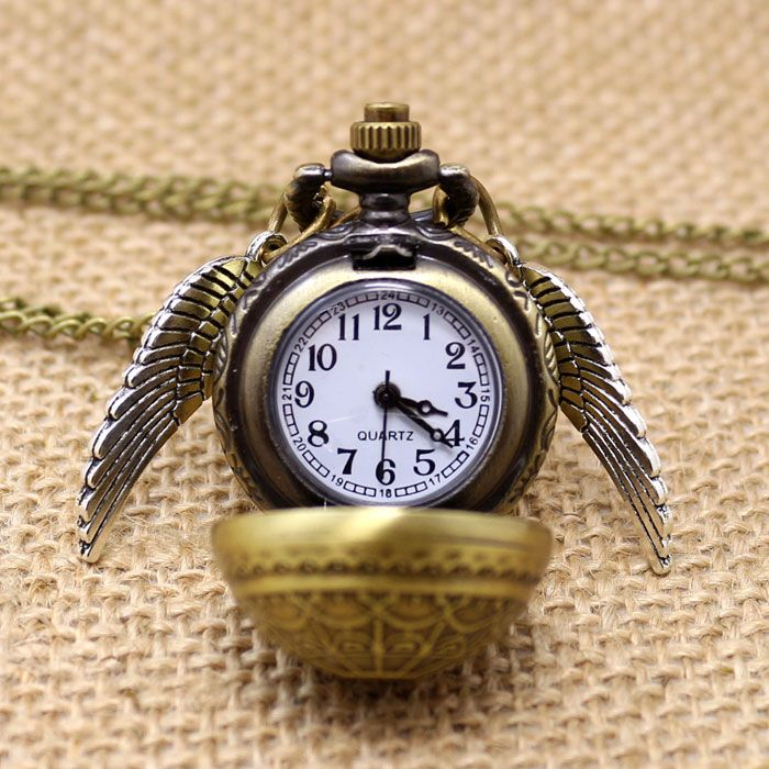 6ab44c473f7 Transporte Da Gota livre Elegante Harry Potter Pomo de ouro relógio de  Quartzo Fob Relógio de