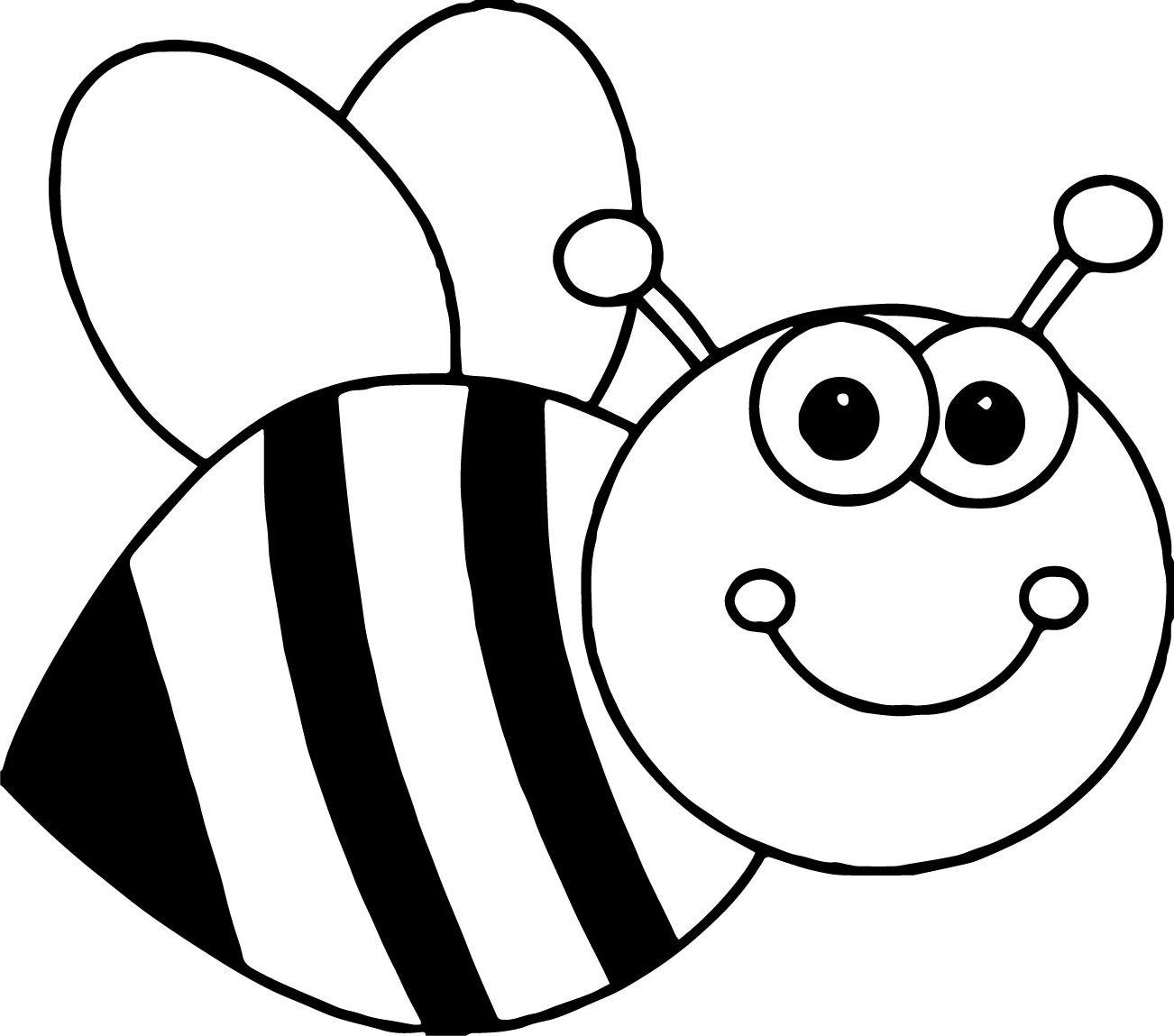 Bee Coloring Sheet
