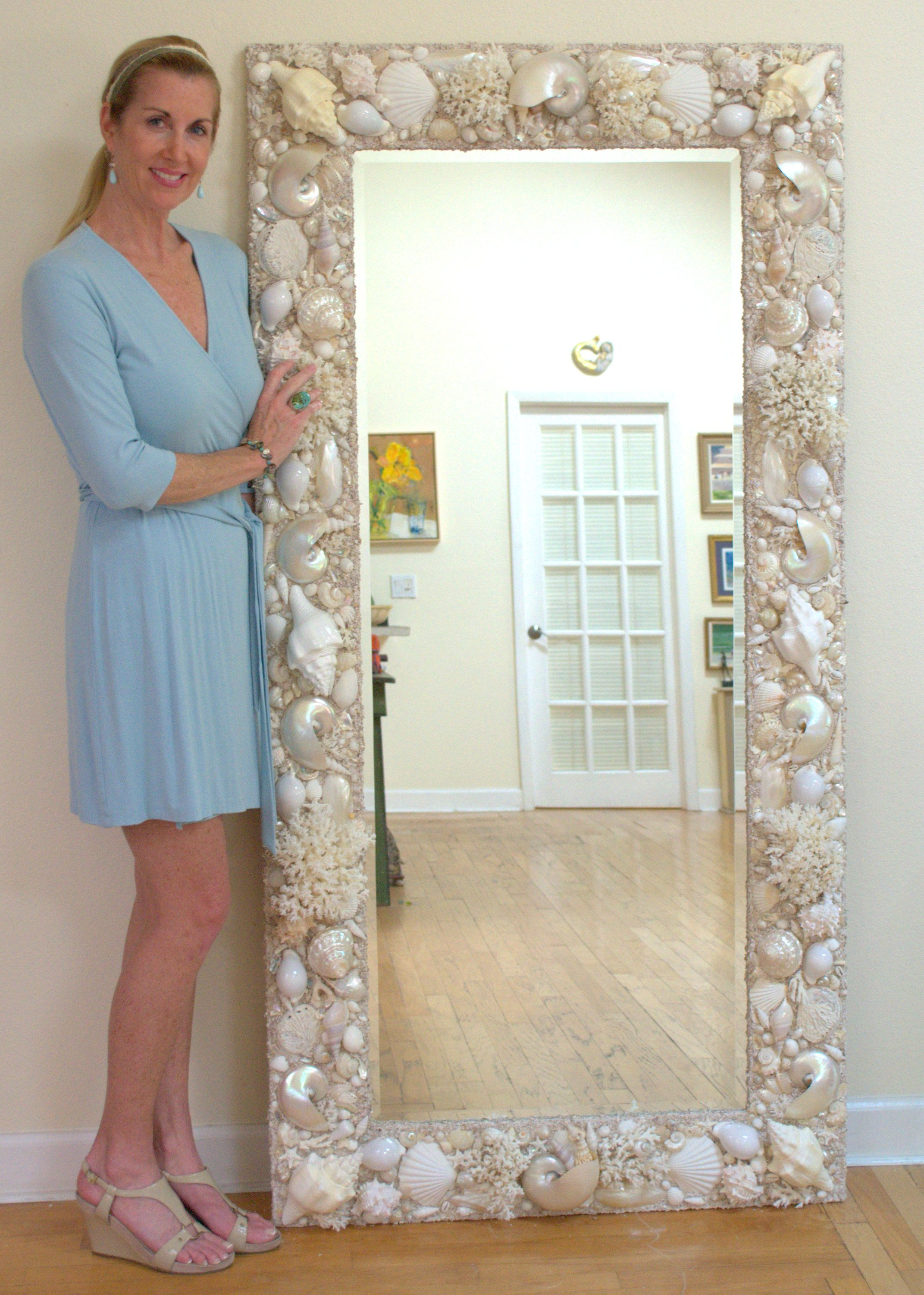 All white and cream sea shell mirror 6 39 x 3 39 www for Where can i find mirrors