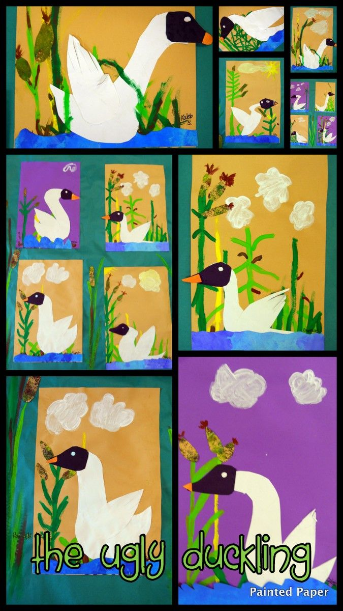 painted paper the ugly duckling beautiful swans 2nd grade fairy