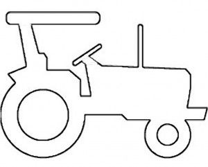 Tractor pattern appliques patterns sewing pinterest for Tractor template to print