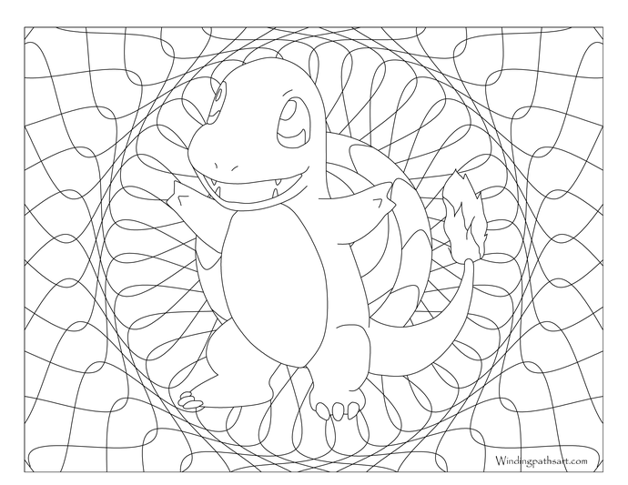 Dibujos Para Colorear De Charmander: Adult Pokemon Coloring Page Charmander