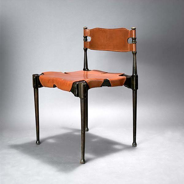 Frei Otto; Beech and Leather 'Montreal' Chair for Karl