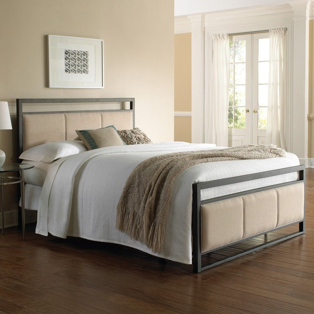 Fashion Bed Group's Danville Iron Upholstered Bed in