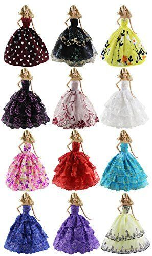 HongShun Lot 8 Set Fashion Princess Dress for 11Barbie Doll -- Click image for more details.