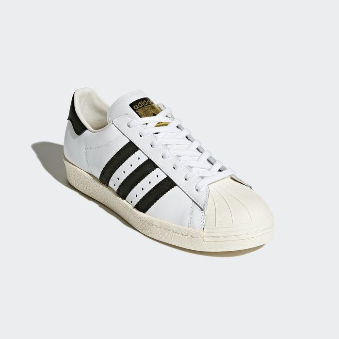 Men's Adidas Superstar 80s Shoes White Black
