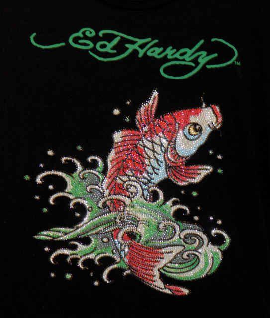 Ed Hardy Koi Fish Wallpaper Ed Hardy Koi Art Fish Wallpaper