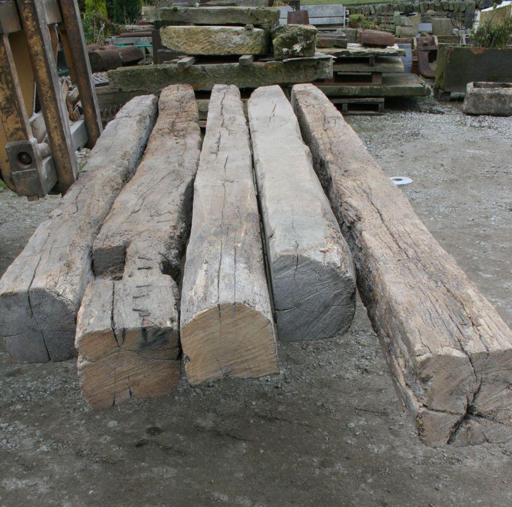 Reclaimed Oak Beam French Oak Dry 3 m lengths Antique   | eBay