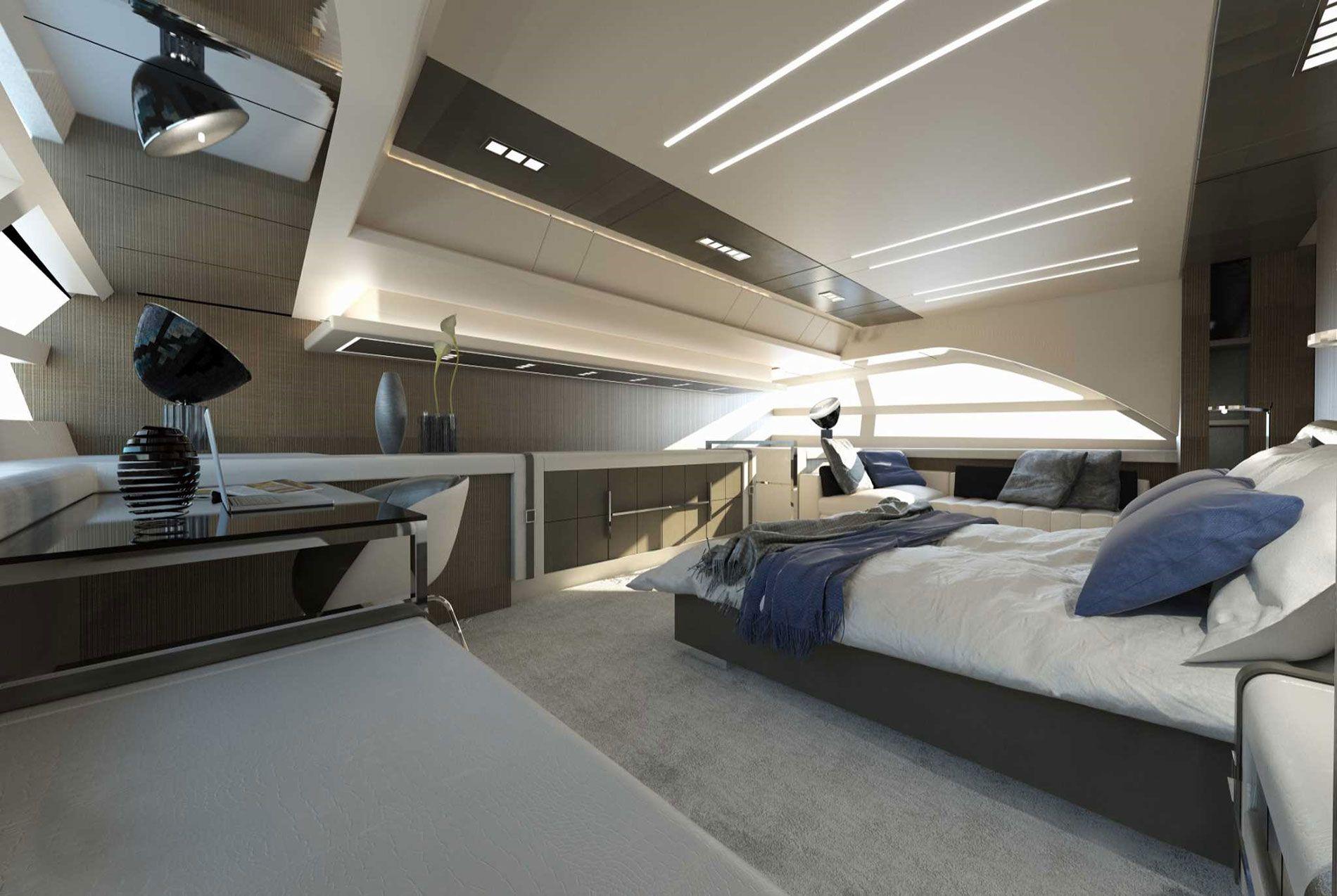 Pershing 140 KIT Pershing yachts, Bunk beds, Master Suite