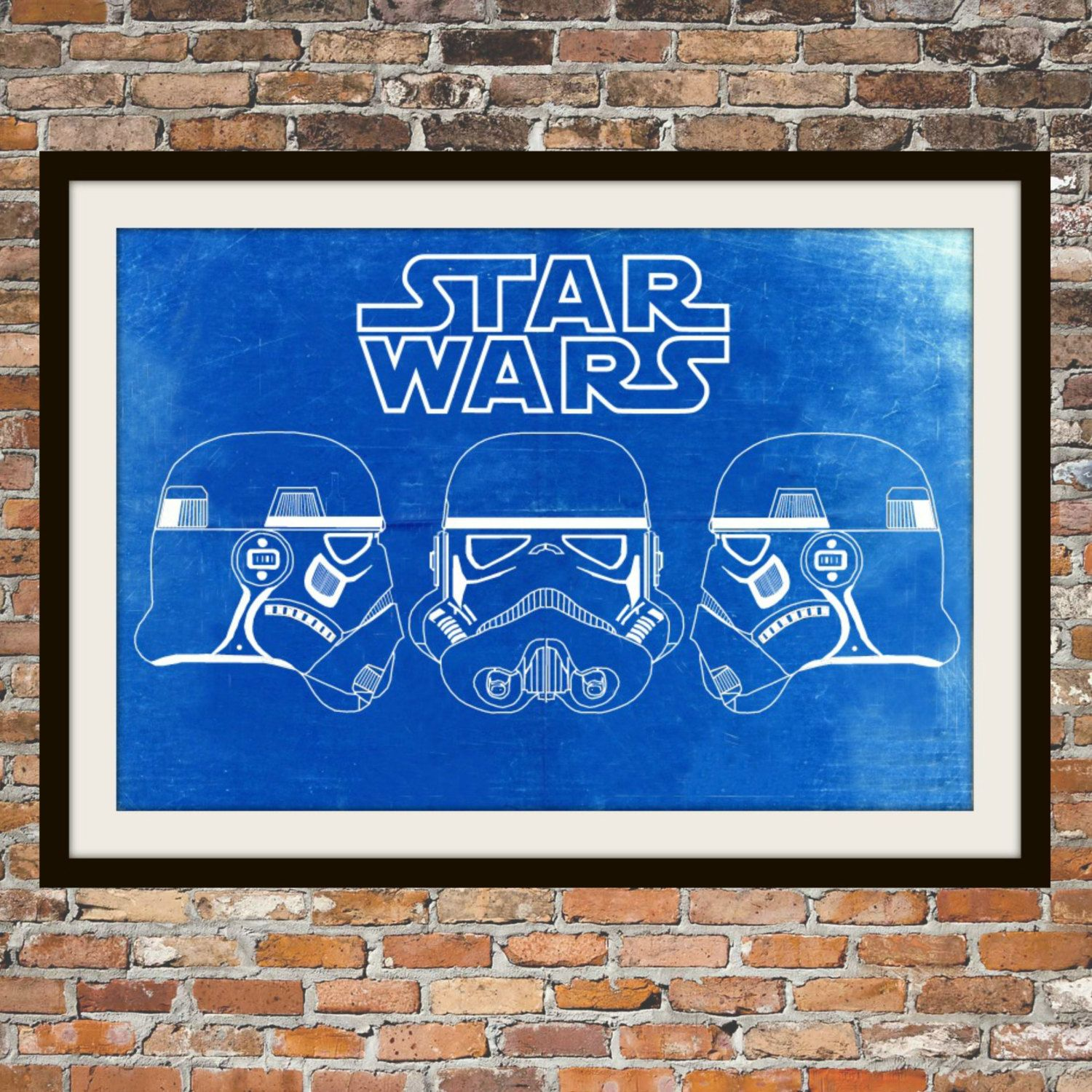 Star wars stormtrooper blueprint art of stormtrooper 3 views star wars stormtrooper blueprint art of stormtrooper 3 views technical drawings engineering drawings patent blue malvernweather Choice Image