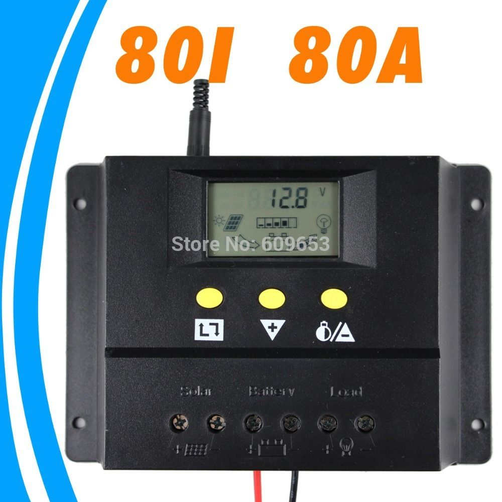 80a 12v 24v Solar Controller Pv Panel Battery Charge Controller Solar System Home Indoor Use New Pv Panels Solar Panel Battery Solar Power Panels