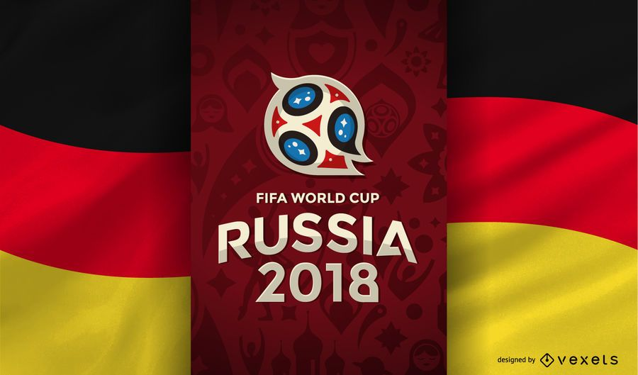 Russia 2018 World Cup Design With The Logo And The Flag Of Germany Russia 2018 Logo And Elements Can Only Be Used For E Germany Flag World Cup Teams World Cup