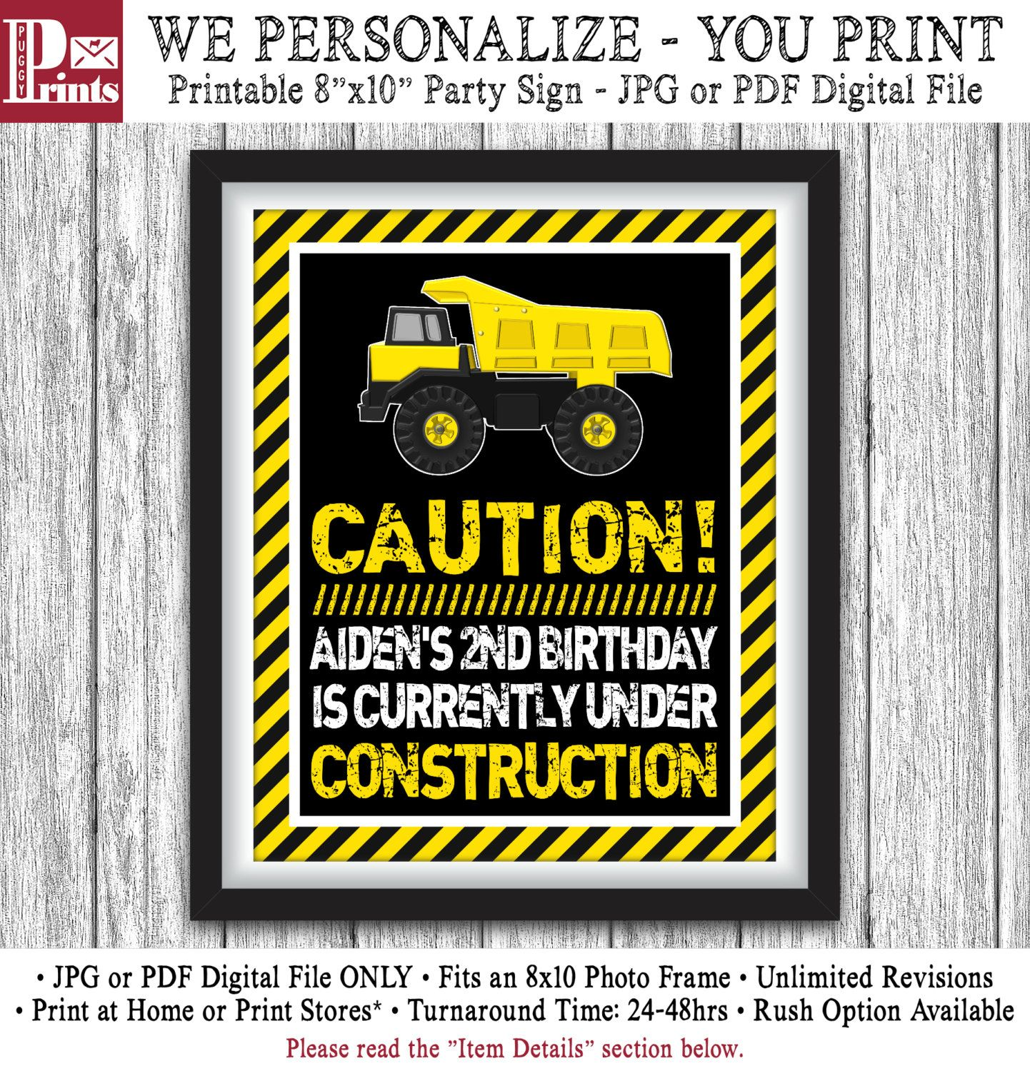 Construction Birthday Party Decorations Construction Party Sign Printable Construction Birthday Party