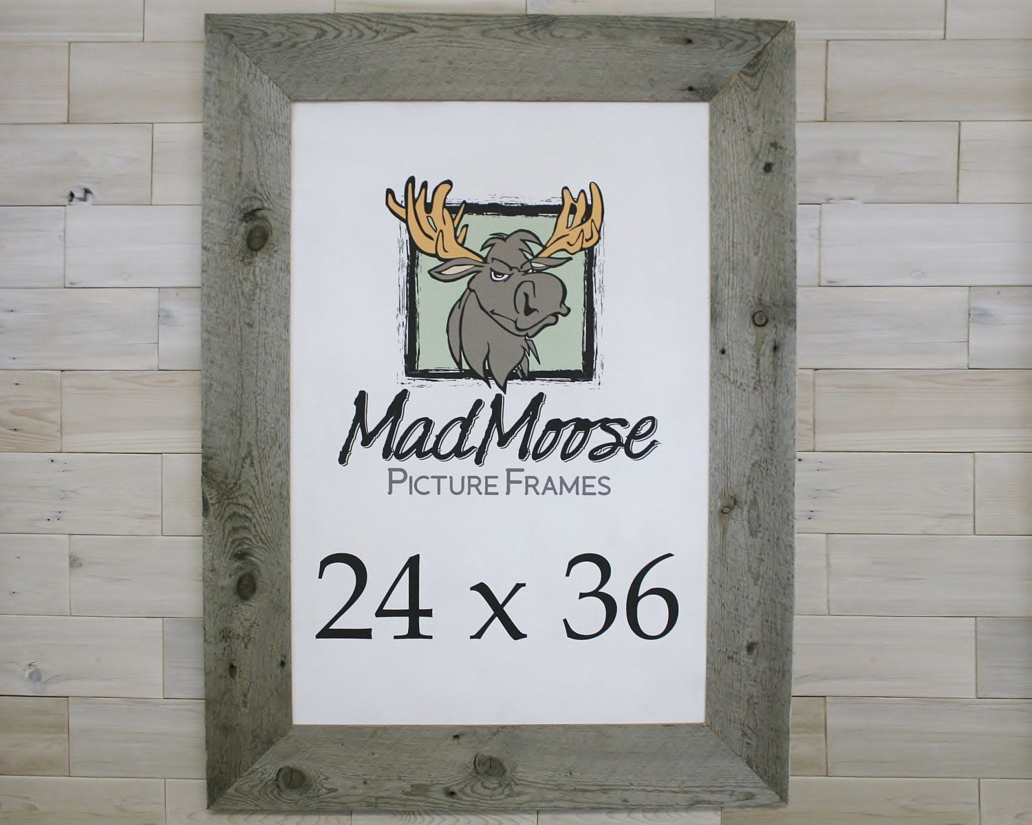 Barn Wood 24x36 Picture Frame [style: Thin x 5\