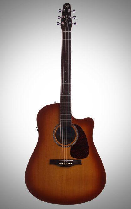 Seagull Entourage Rustic Dreadnought Cutaway Acoustic Electric Guitar Seagull Guitars Acoustic Electric Guitar Acoustic Electric