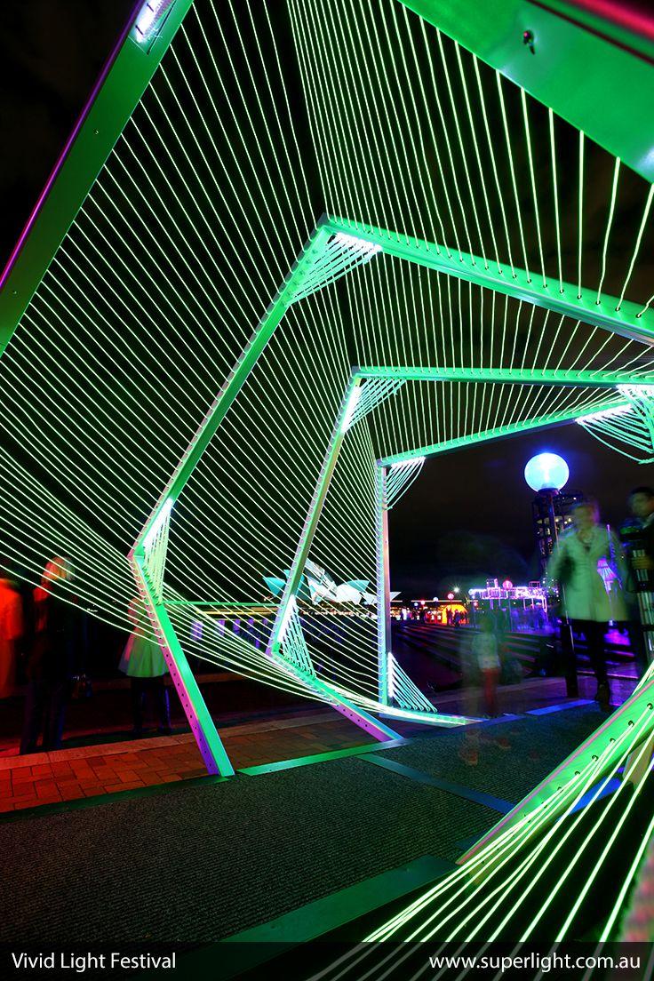 Wonderful Led Constructions At The Vivid Light Festival In Sydney Www Superlight Com Au Led Lights Light Sculpture Geometric Lighting Creative Lighting