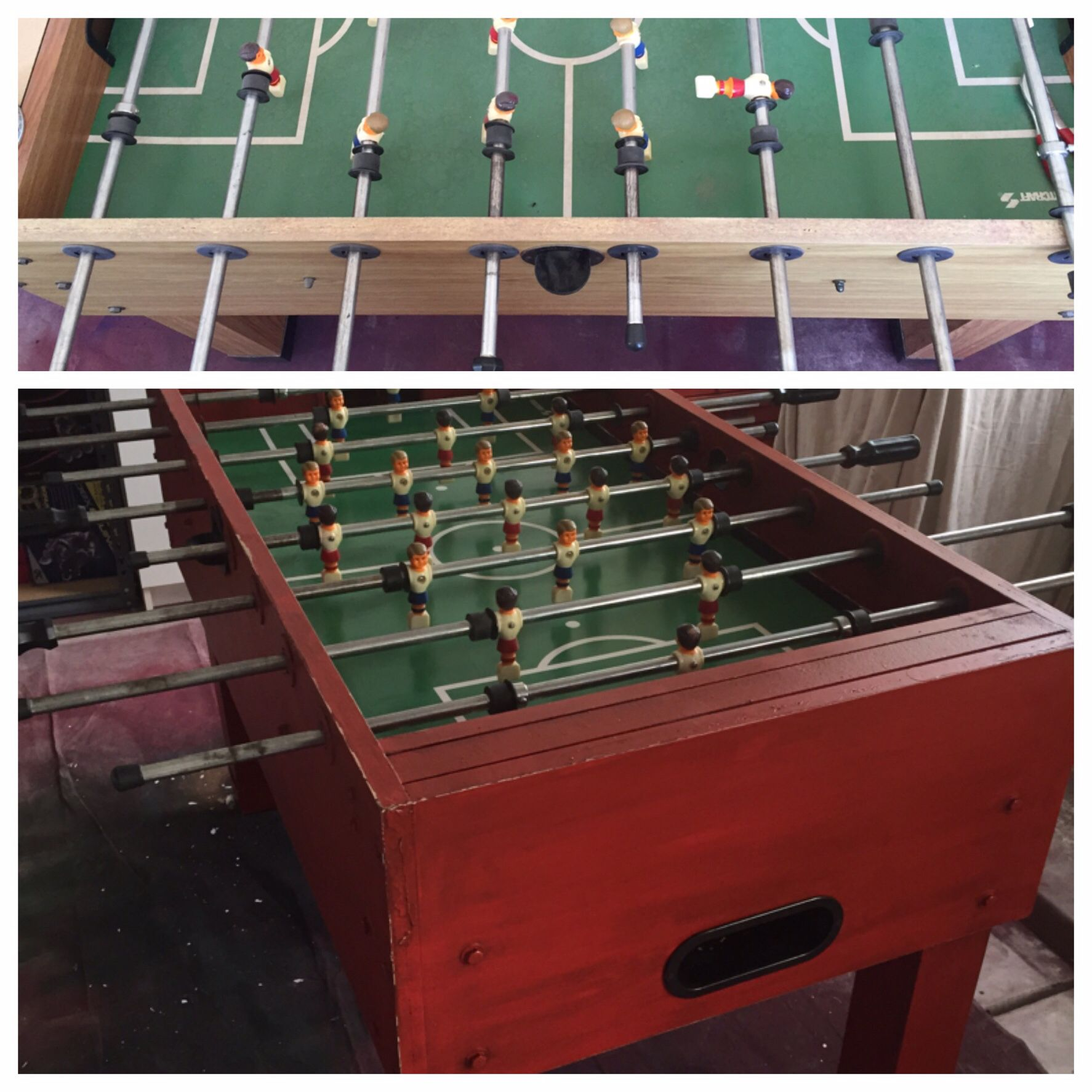 Painted foose ball table game room decorating pinterest game