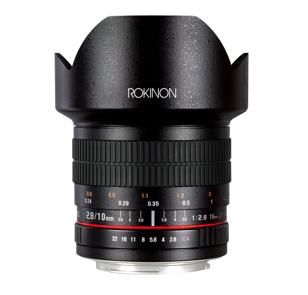 Rokinon 10mm F2 8 Ed Comme Ncs Cs Ultra Objectif Grand Angle Canon Ef S Modele Ultra Wide Angle Lens Wide Angle Lens Nikon Digital Slr