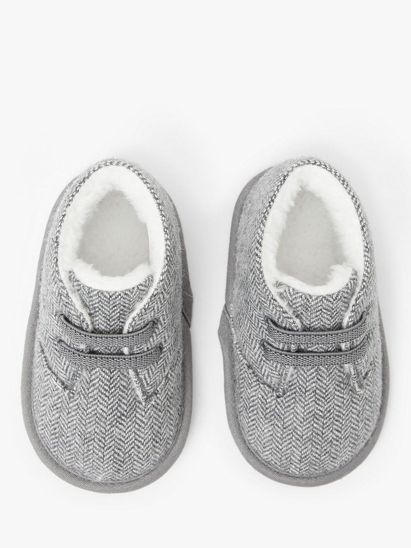 John Lewis & Partners Baby Herringbone Shoes, Grey (With ...