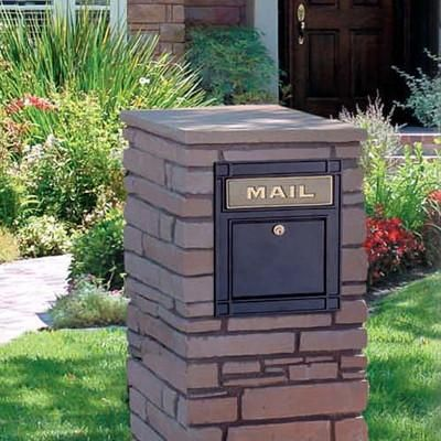 Column Mounted Mailbox Column Mount Mailbox3