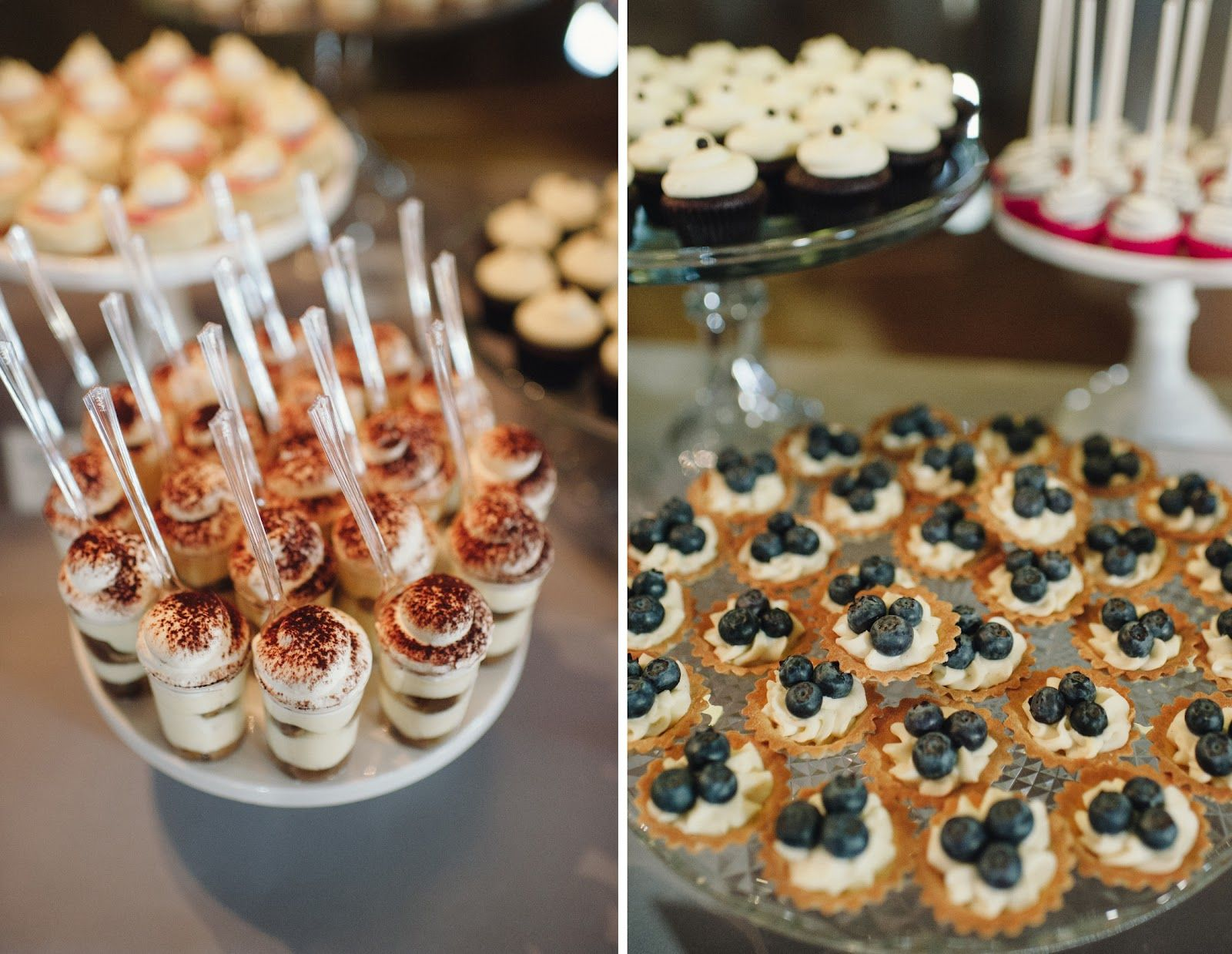 Barn Wedding Mini Dessert Table And 2 Tier Cake For Allison And