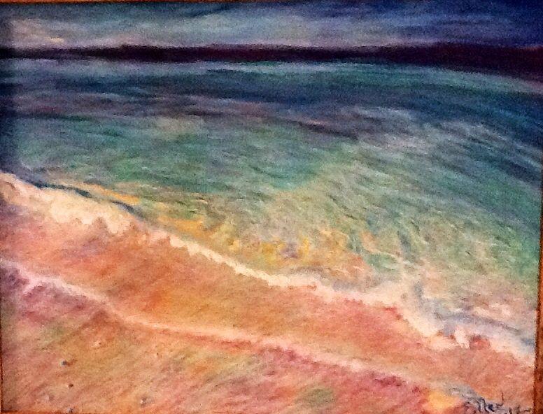 Ellen Schulz, Oil Pastel on Pastelbord, Tampa St. Pete's Beach