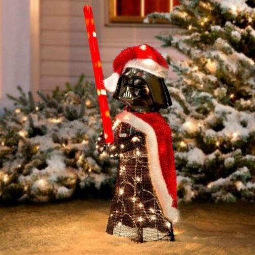 28 lighted pre lit star wars darth vader christmas outdoor yard holiday decor