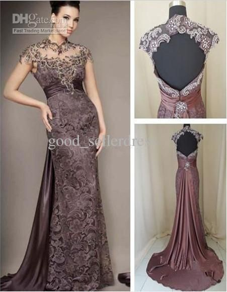 Show your best to all people even in the evening and then get  Long Lace Evening Gowns 2013 LKatest Style High Collar Backless Sweep High Quality Beads Straight in good_sellerdress and choose wholesale evening maxi dresses,womens evening dress and ladies clothing on DHgate.com.