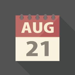 シンプルなカレンダーのアイコン アイコンデザイン アイコン フラットアイコン