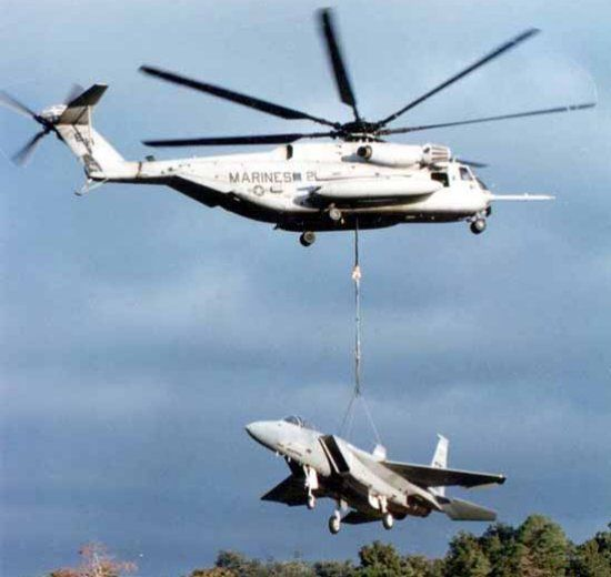 The CH-53e Is The Work Horse Of The Marine Corps With Long