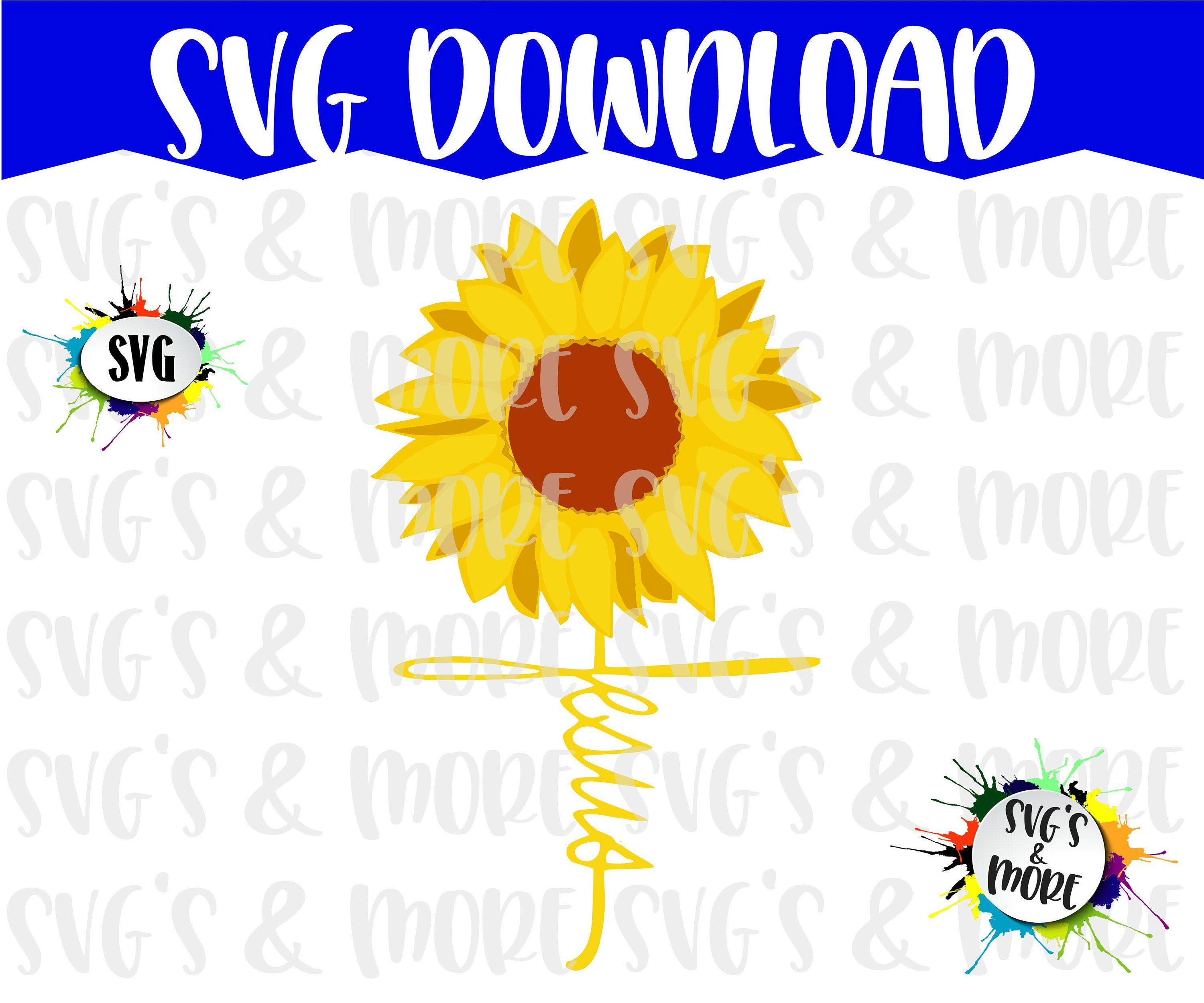 SVG File, Sunflower with Jesus Stem, Instant Download File, Graphic