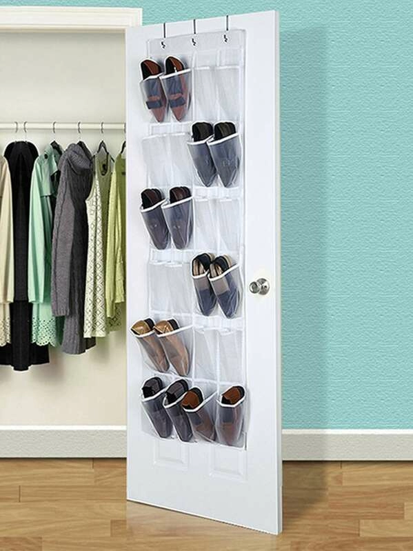 24grid Hanging Shoe Storage Bag Shein Usa In 2020 Closet Organization Cheap Hanging Shoe Storage Shoe Rack Organization