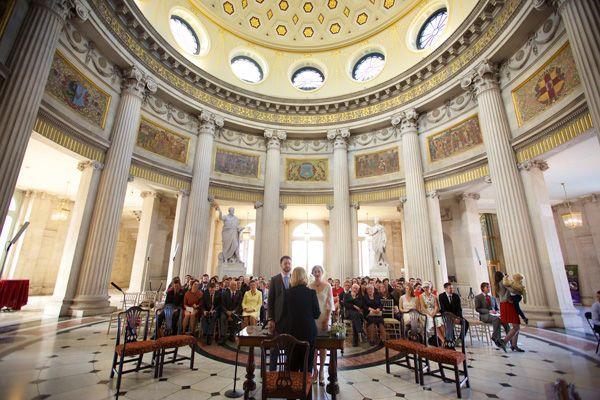 beautiful wedding ceremony room in city hall Read more on http://onefabday.com/dublin-city-hall-wedding-2/