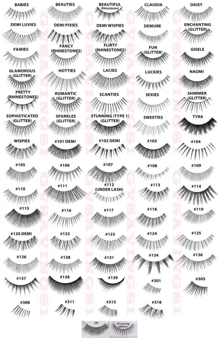 0a7efc05055 4 Pairs of Ardell Lashes. Your choice of the styles pictured in collage  above inBLACK only . False Eyelashes (Your Choice / Pick Any!)