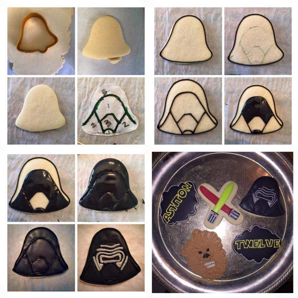 Kylo Ren cookie Cookies by Caley Cookies by Caley Pinterest