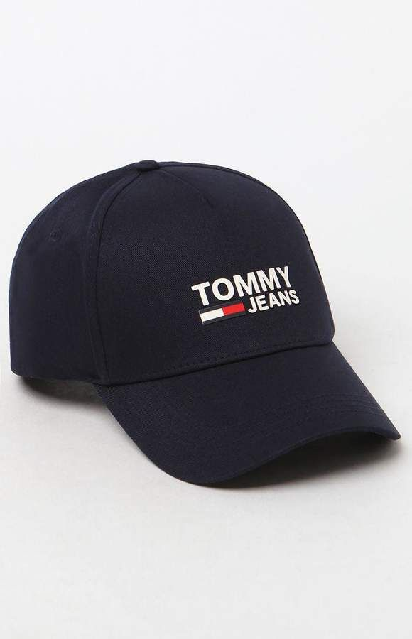 25549920 Tommy Jeans Denim Logo Snapback Dad Hat   The hat addict in 2019 ...