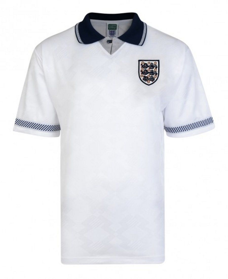 England 1990 World Cup Finals Home Shirt Junior Retro Football Shirts World Cup Final Shirts