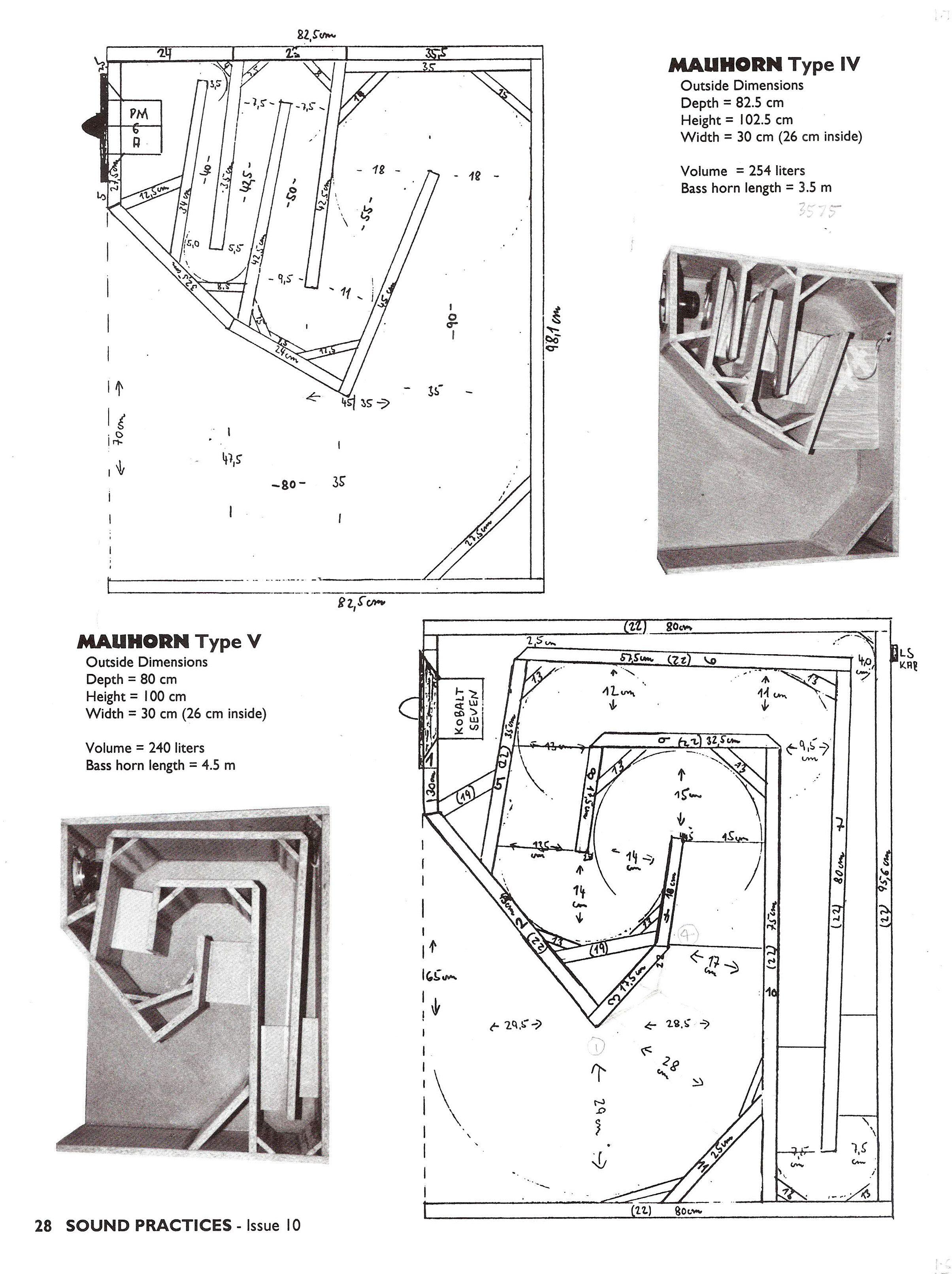 Mauhorn IV   Speaker   Speaker plans, Speaker box design, Horn speakers