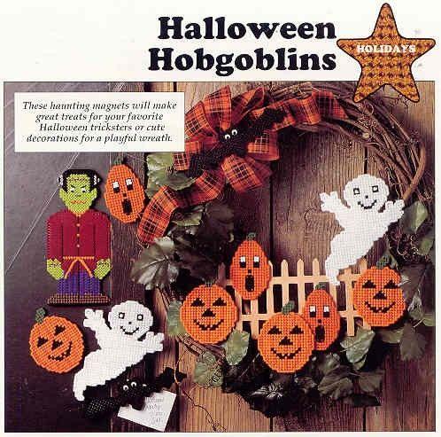 Halloween Hobgoblins ~ plastic canvas pattern plastic canvas - halloween bathroom sets