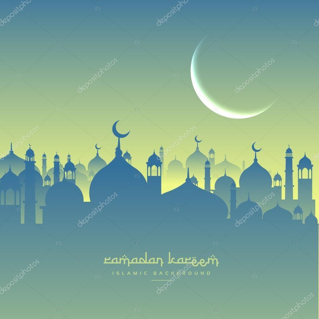 Festival Ramadan Salam Dengan Bentuk Masjid Ilustrasi Gambar Royalti