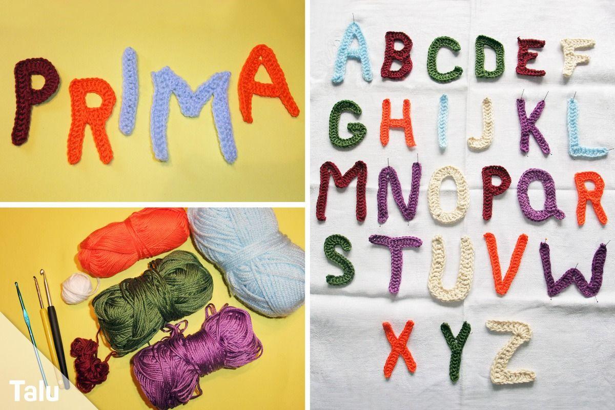 Photo of Häkelbuchstaben – kostenloses Muster zum Häkeln ABC – Talu.de