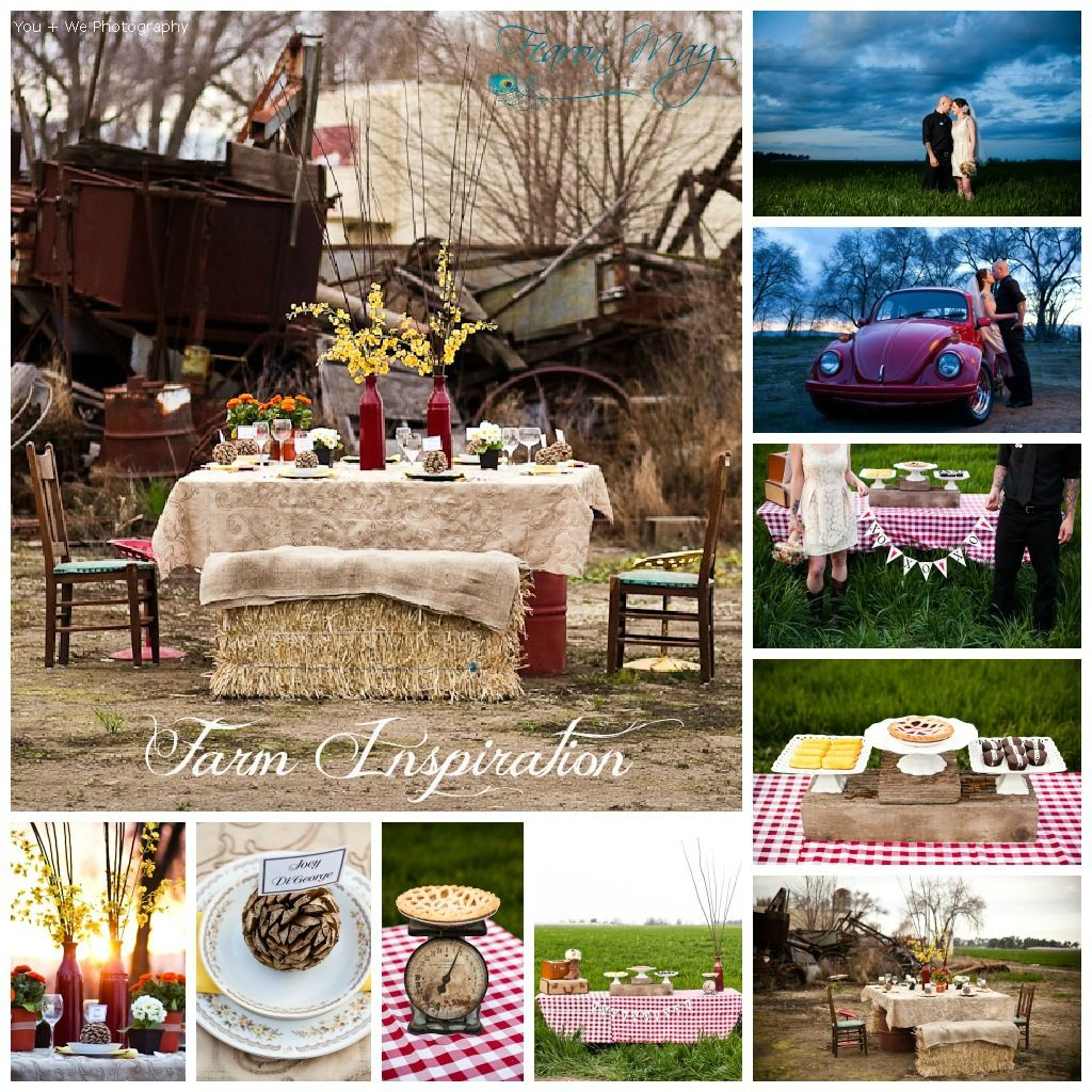 Red Wedding Decorations, Farm Wedding